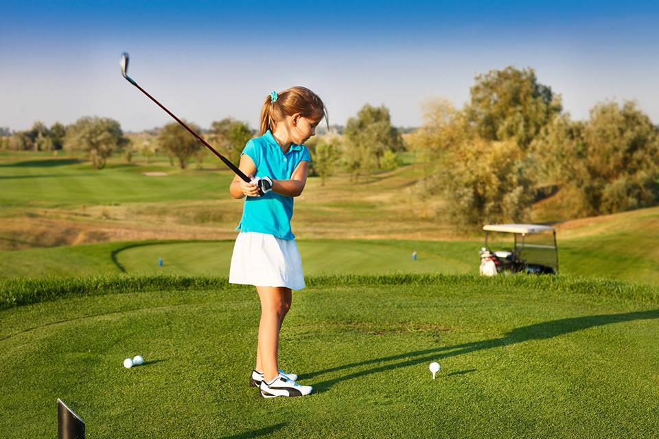 Игра в гольф для детей
