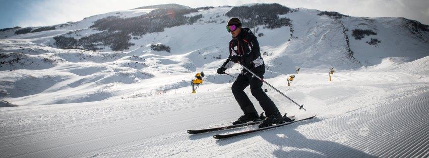Катание на лыжах вместе с