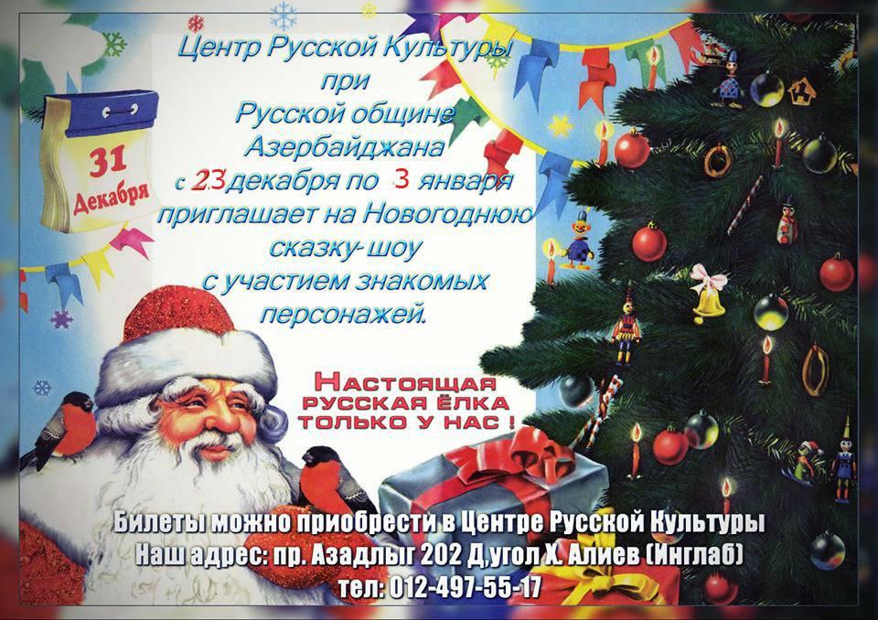 """""""Новогодняя Ёлка"""" в Центре Русской Культуры"""