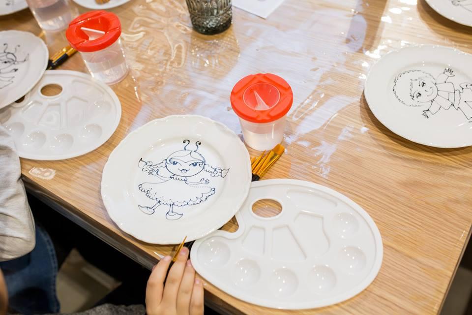 Роспись на тарелках в