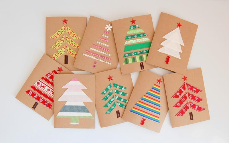 10 идей новогодних открыток, которые нужно сделать вместе с детьми