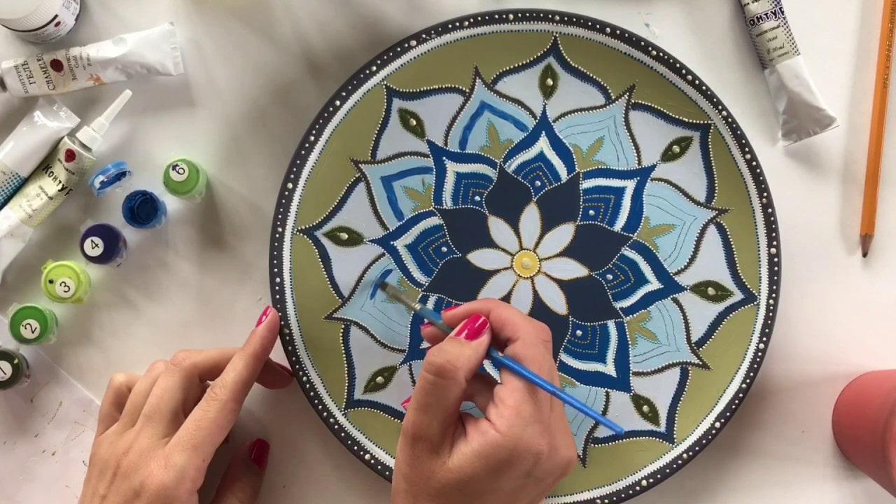 Роспись по стеклу и керамике в