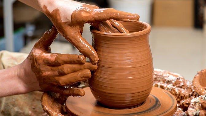 Изготовление глиняных изделий и чаепитие